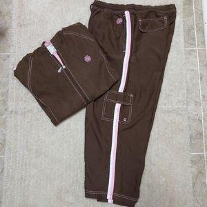 Brown and Pink Capri Jogging Set